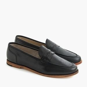 New JCREW Ryan Penny Loafers in Black Leather